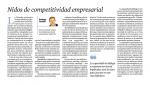 Nidos de competitividad empresarial – article de Santiago Castellà al Diari de Tarragona