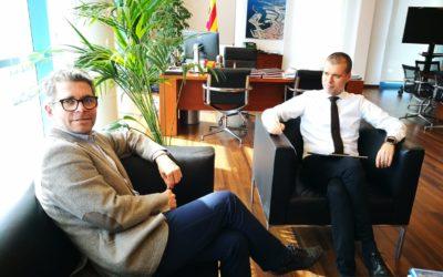 El vicepresident de la Fundació, Marz Arza, es reuneix amb el president del Port, Josep M.Cruset
